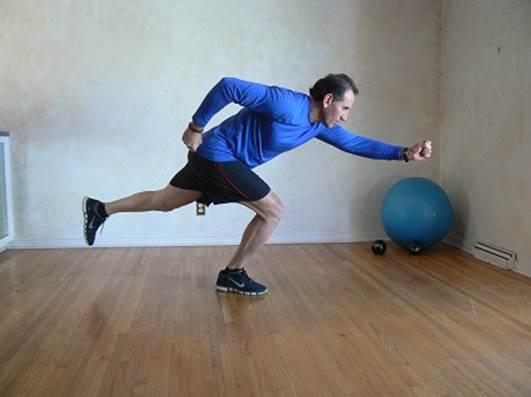 One Leg Pelvic Stabilty Run